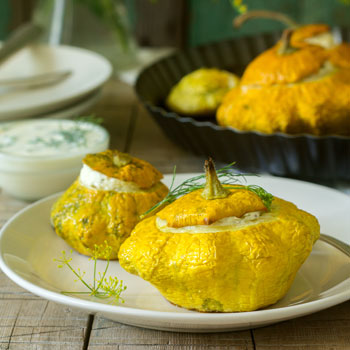 Cheesed Custard Squash