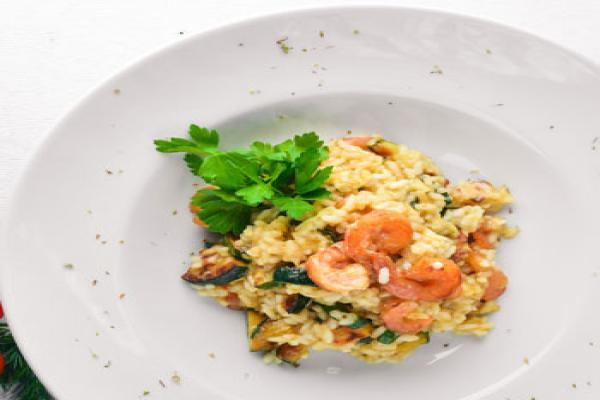 Risotto with Spinach and Shrimp
