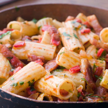 Slow-cooked Rigatoni
