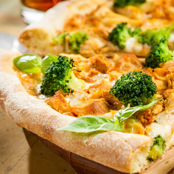 Chicken Broccoli Pizza