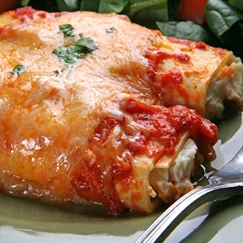 Manicotti with Mushrooms