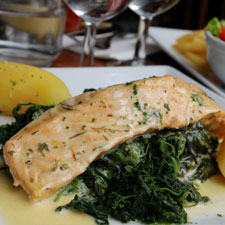 All In One Salmon Florentine