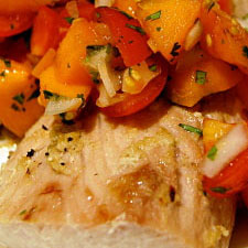Baked Fish with Salsa