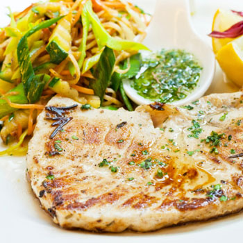 Grilled Orange Swordfish