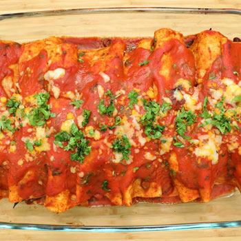 Cheese & Bean Enchiladas