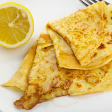 Airy Lemon Pancakes