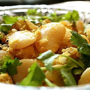 Potato-Lima Bean Medley